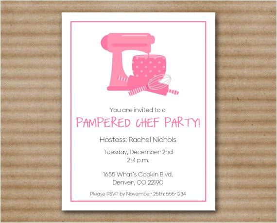 pampered chef invitation cooking kitchen
