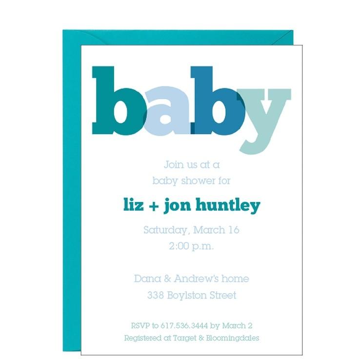 graphic design baby shower invitation inspiration