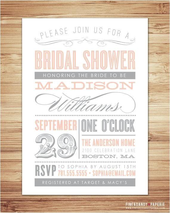 bridal shower invitations paper source