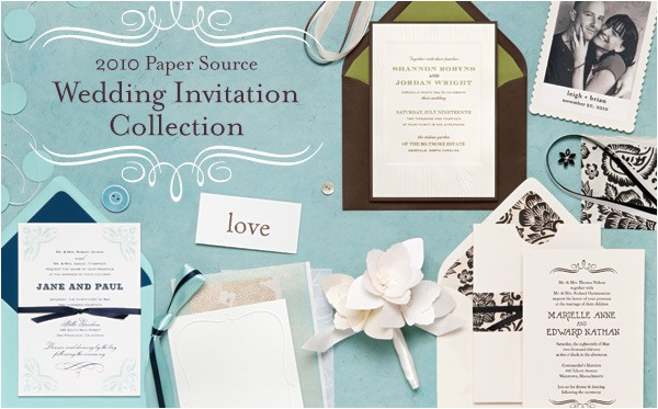 introducing the 2010 paper source wedding invitation collection