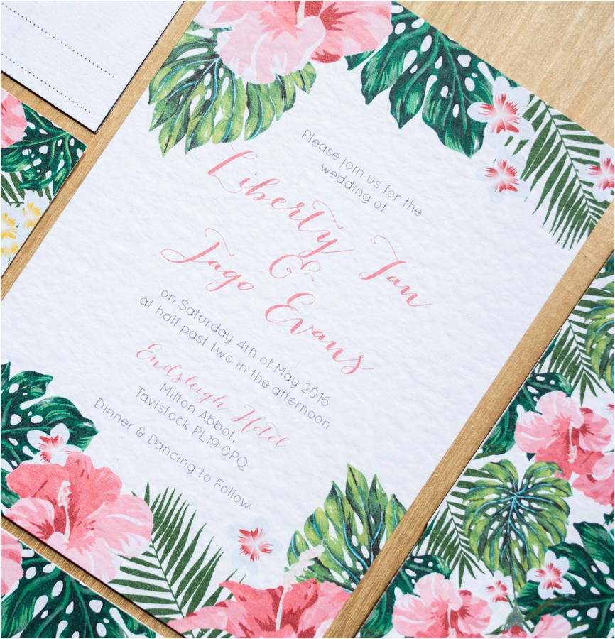 paper chase tropical wedding and party