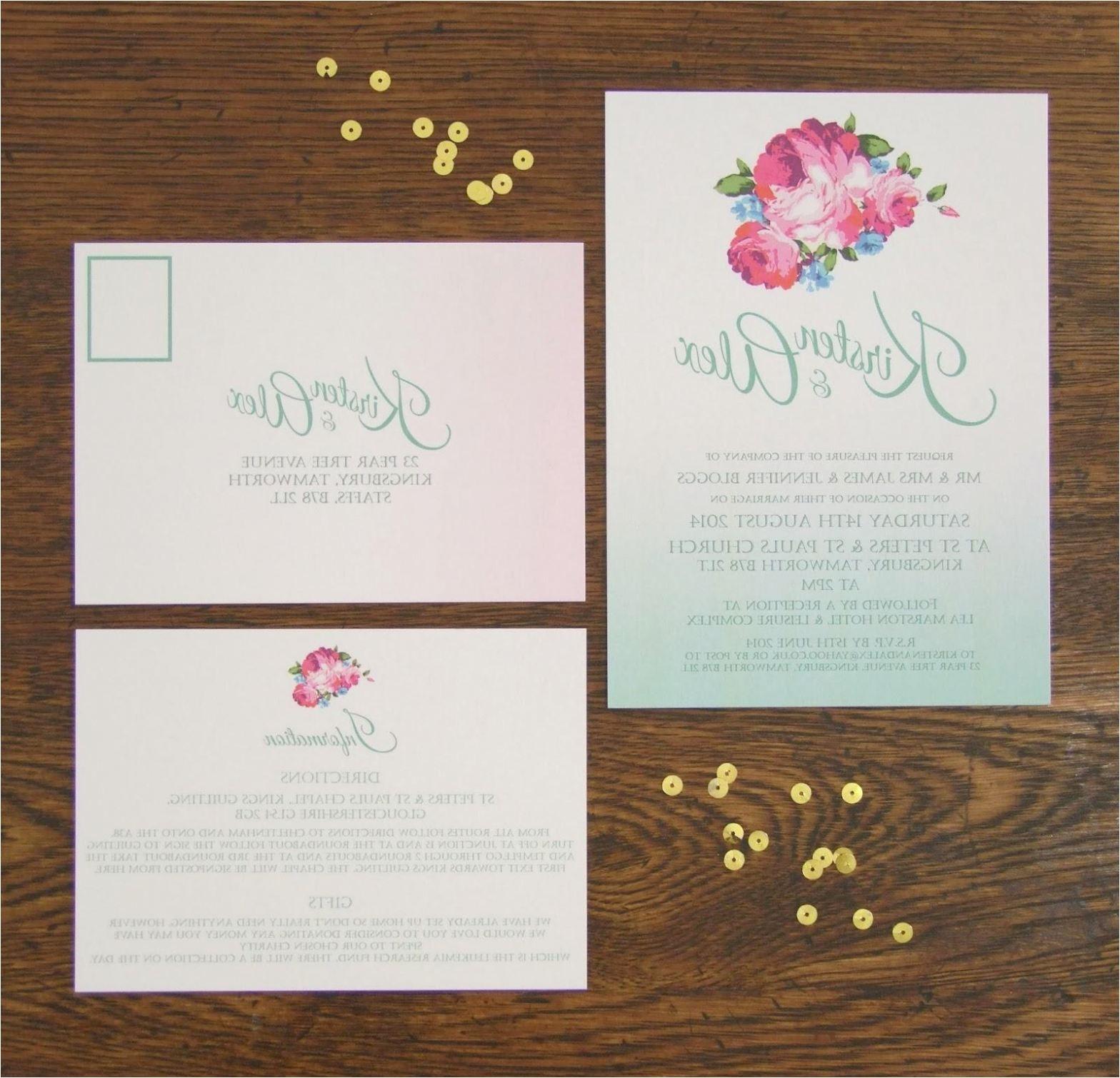 wedding invitations fredericton