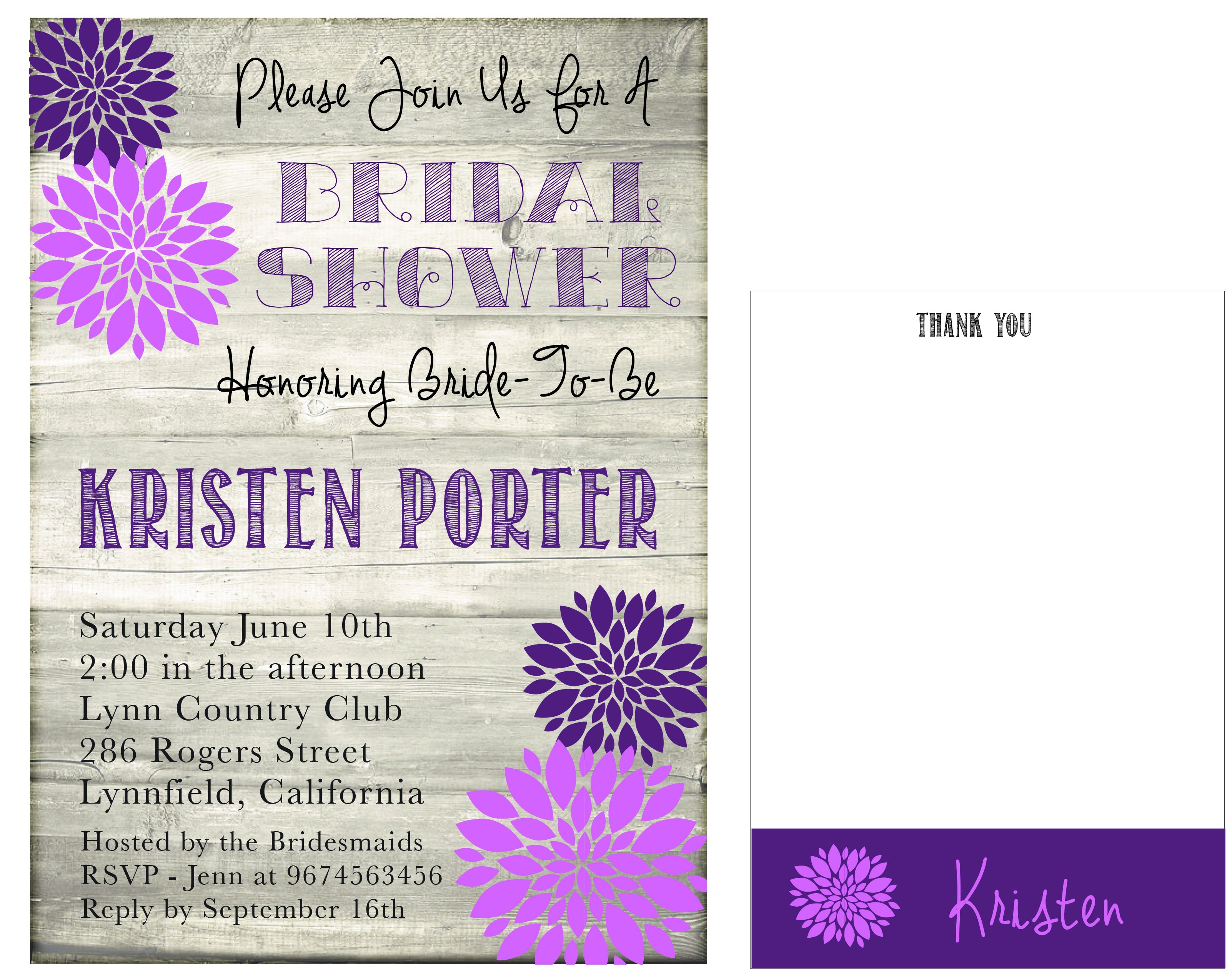 papyrus bridal shower invitations