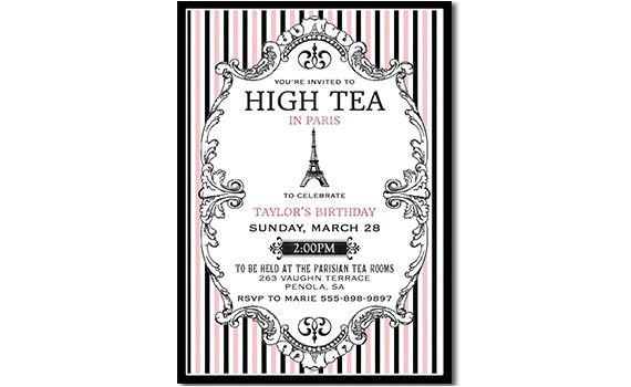 paris high tea invitation paris tea