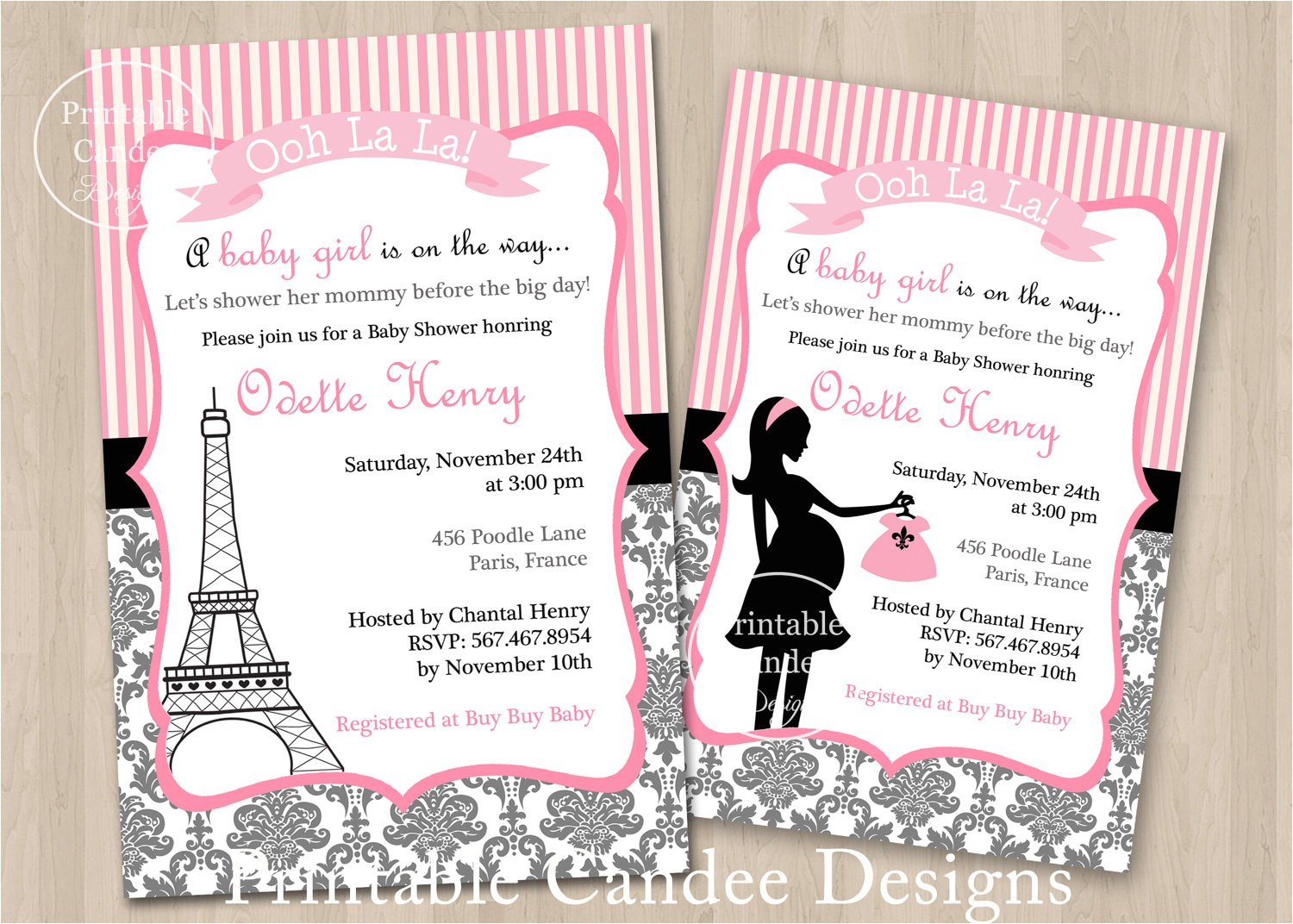 paris baby shower invitations free printables