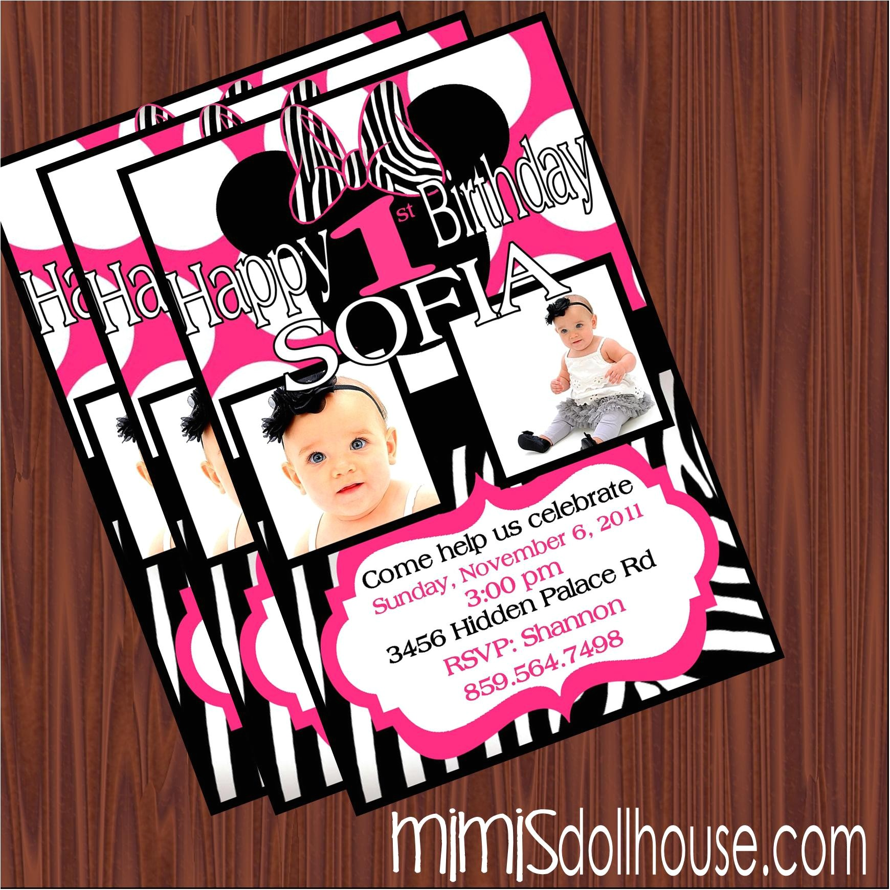 1st birthday invitations party city