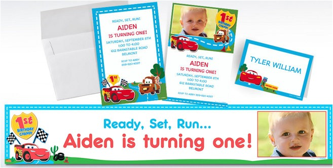custom cars 1st birthday invitations do