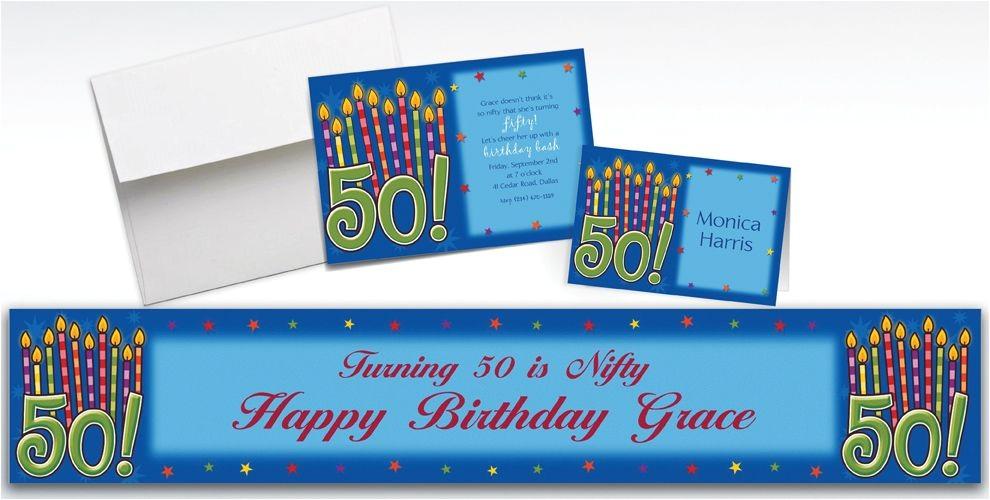 custom great birthday 50th invitations thank you notes
