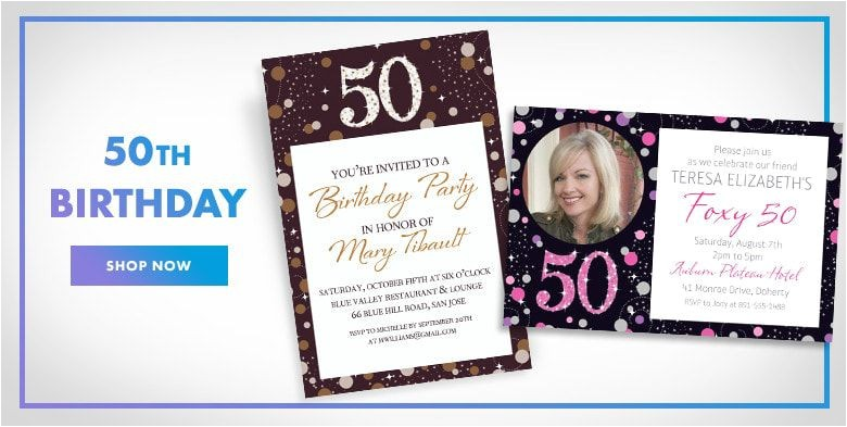 custom invitations milestone birthday