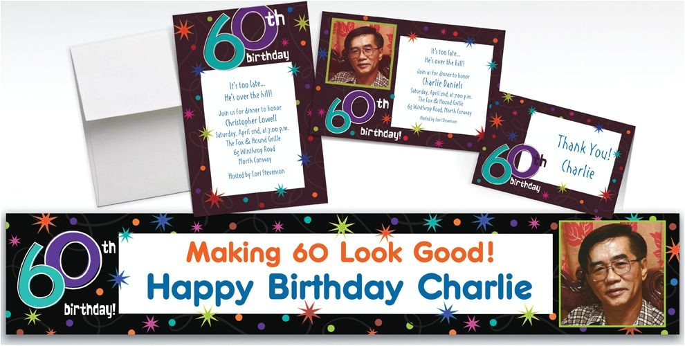 custom the party continues 60th birthday invitations thank you notes