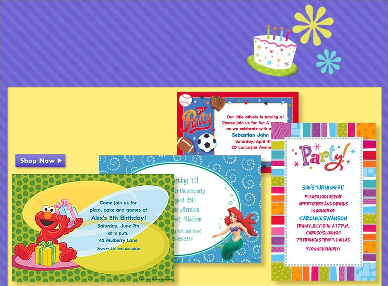 birthday invitation party city