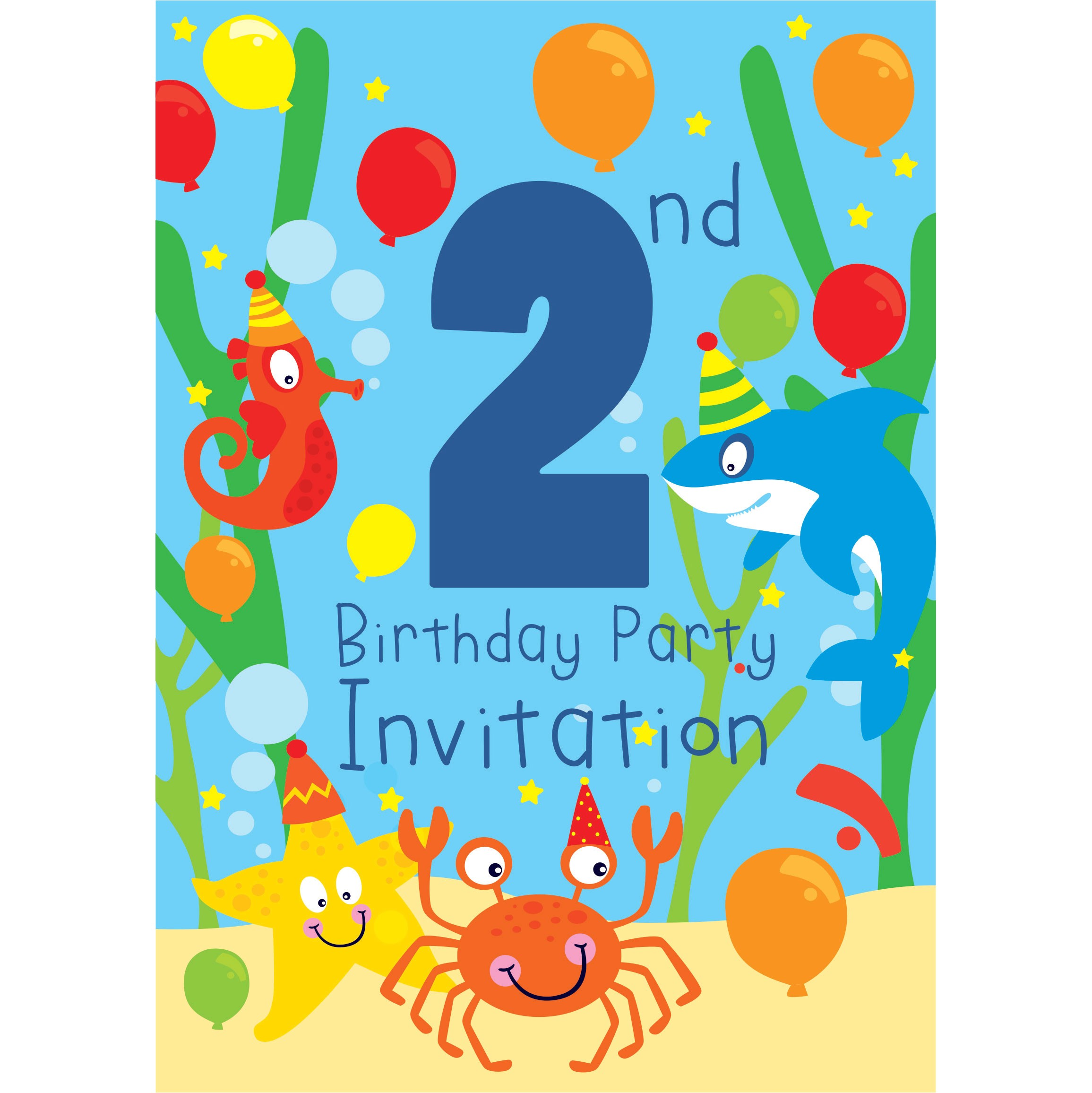 birthday invitations party city