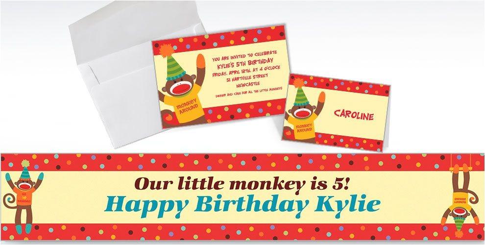 custom monkey party invitations do
