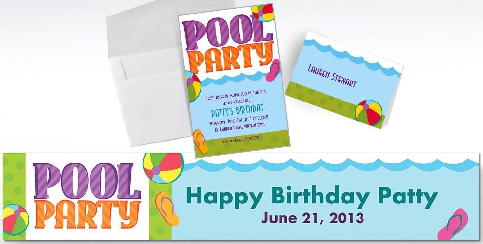 custom pool party invitations do