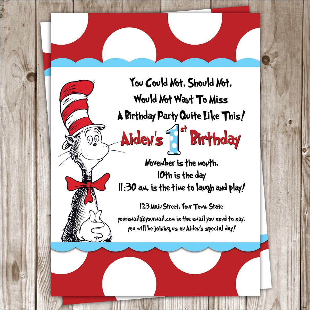 how to make dr seuss party invitations