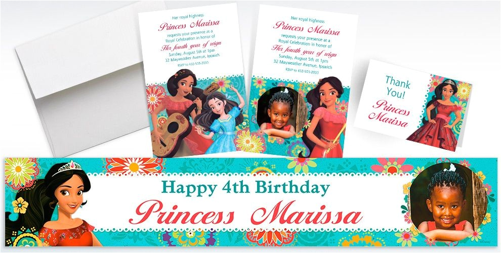 custom elena of avalor invitations thank you notes banners