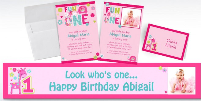 custom one wild girl 1st birthday invitations do