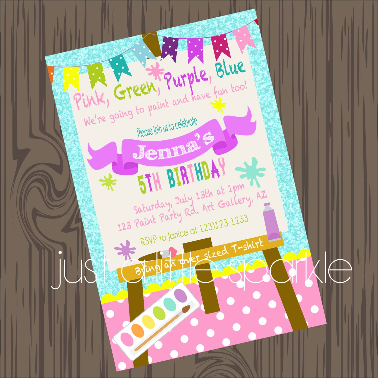 best paint party invitations art printable