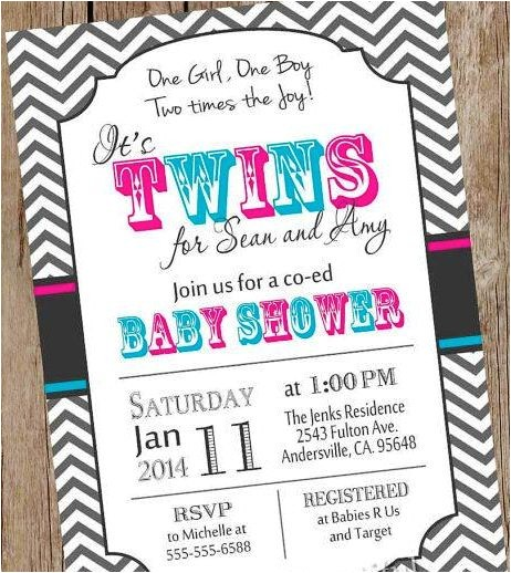 cute baby shower invitations for twins