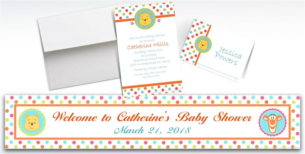 custom winnie the pooh baby shower invitations thank you notes do