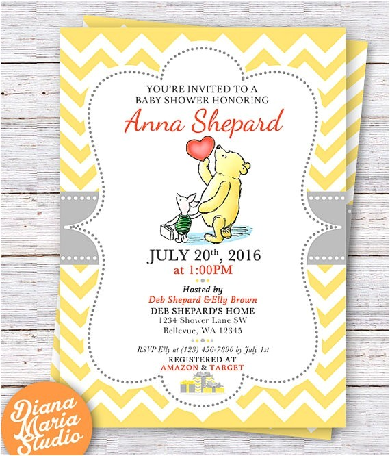 best winnie the pooh baby shower invitations to design baby shower invitations