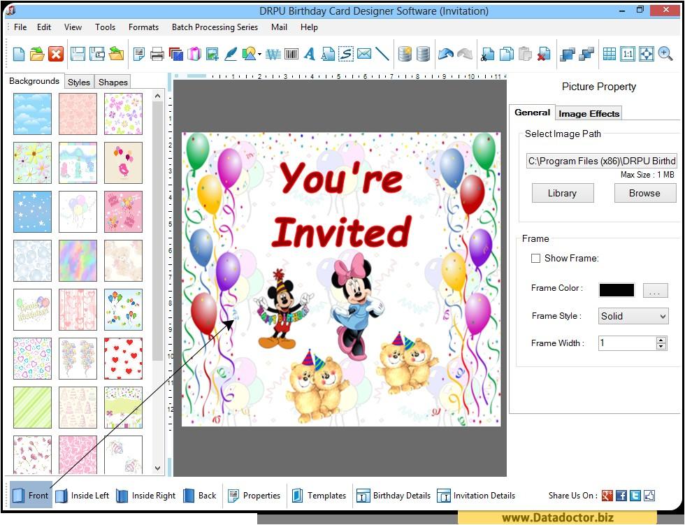 birthday card design