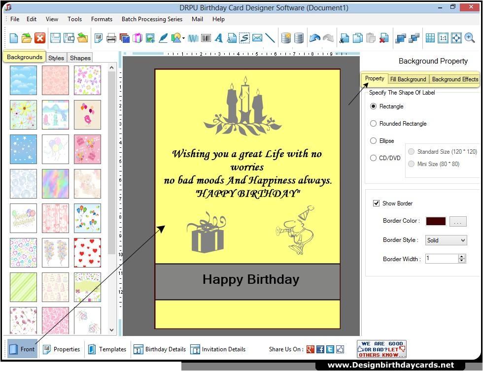 birthday invitation design software