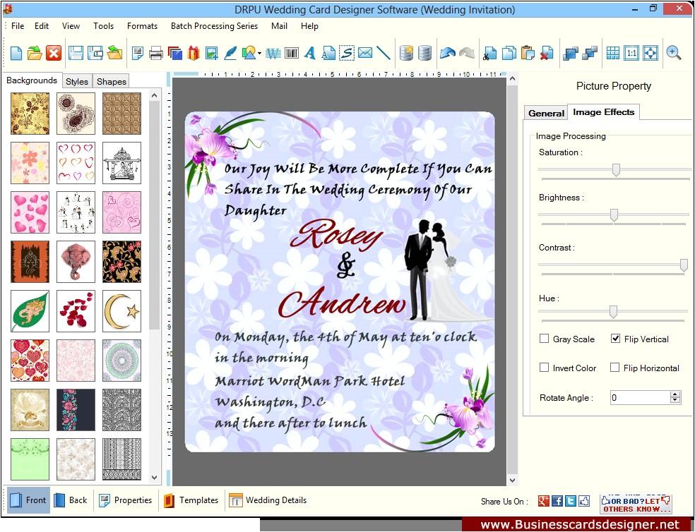 wedding card screenshots