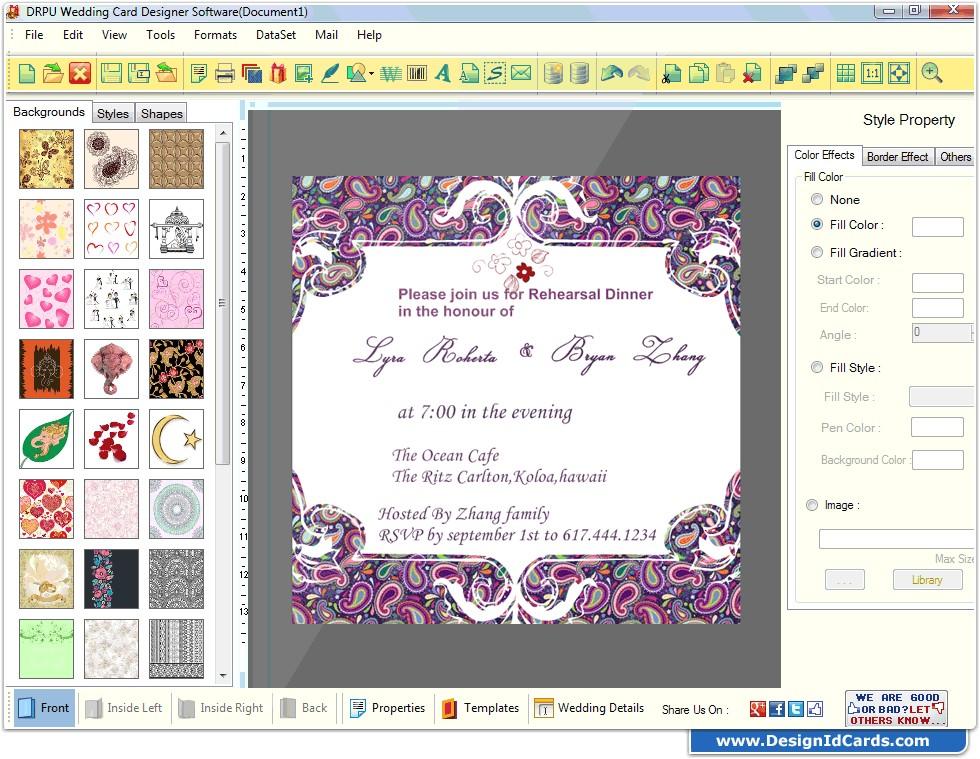 software for invitation design wedding card maker software designs