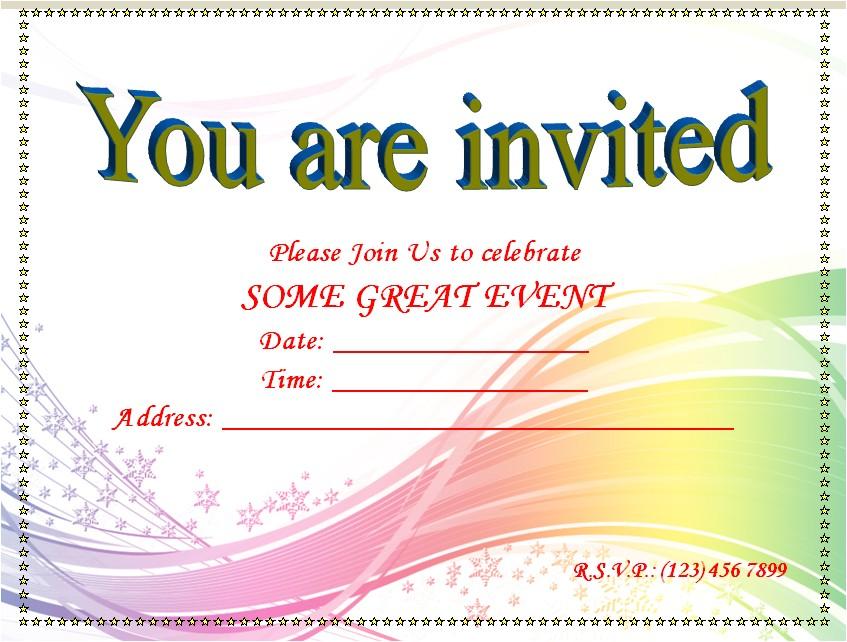 blank invitation templates