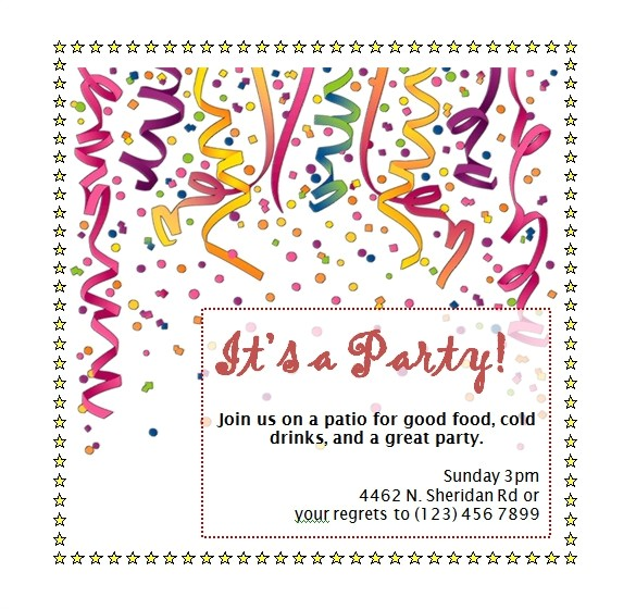 Party Invitation Templates Word Free Party Invitation Templates Word Invitation Template