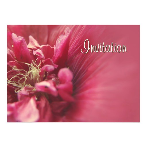 passion red flower birthday party invitation 161432840760071823