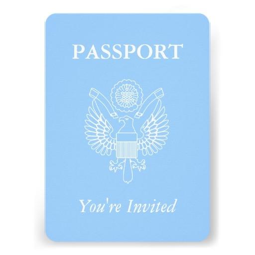 passport baby shower boy travel theme party invitation