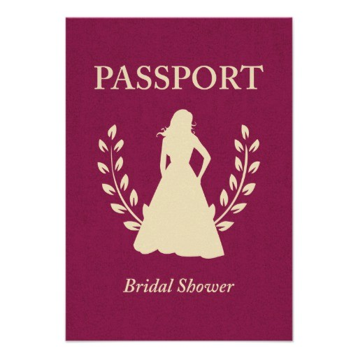 bridal shower passport custom invitations 161009435278297128