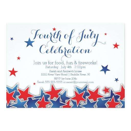 patriotic stars 4th of july party invitation 161496161657418162