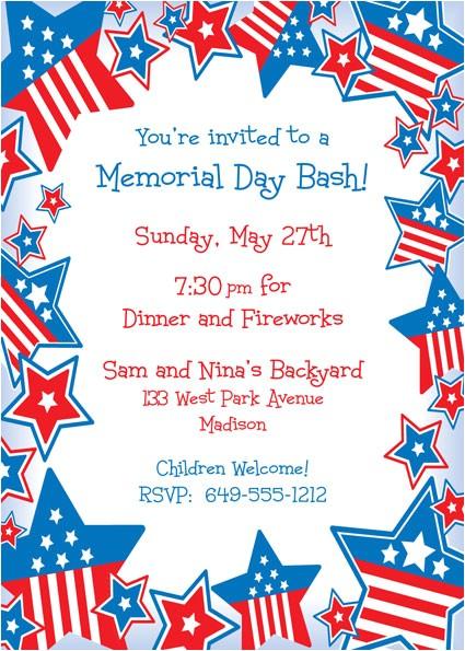 patriotic stars invitation 438139