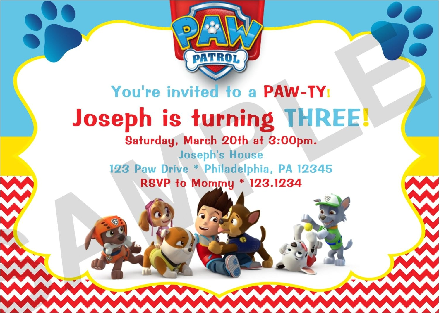 Paw Patrol Birthday Invitations Free Download Birthday Invitation Card Free Printable Birthday