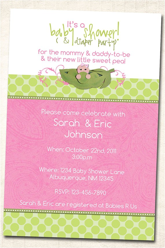 sweet pea in a pod baby shower