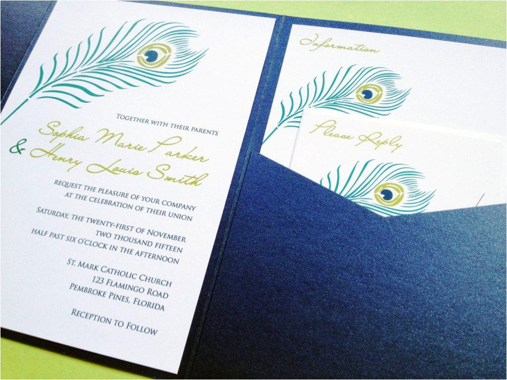 peacock baby shower invites