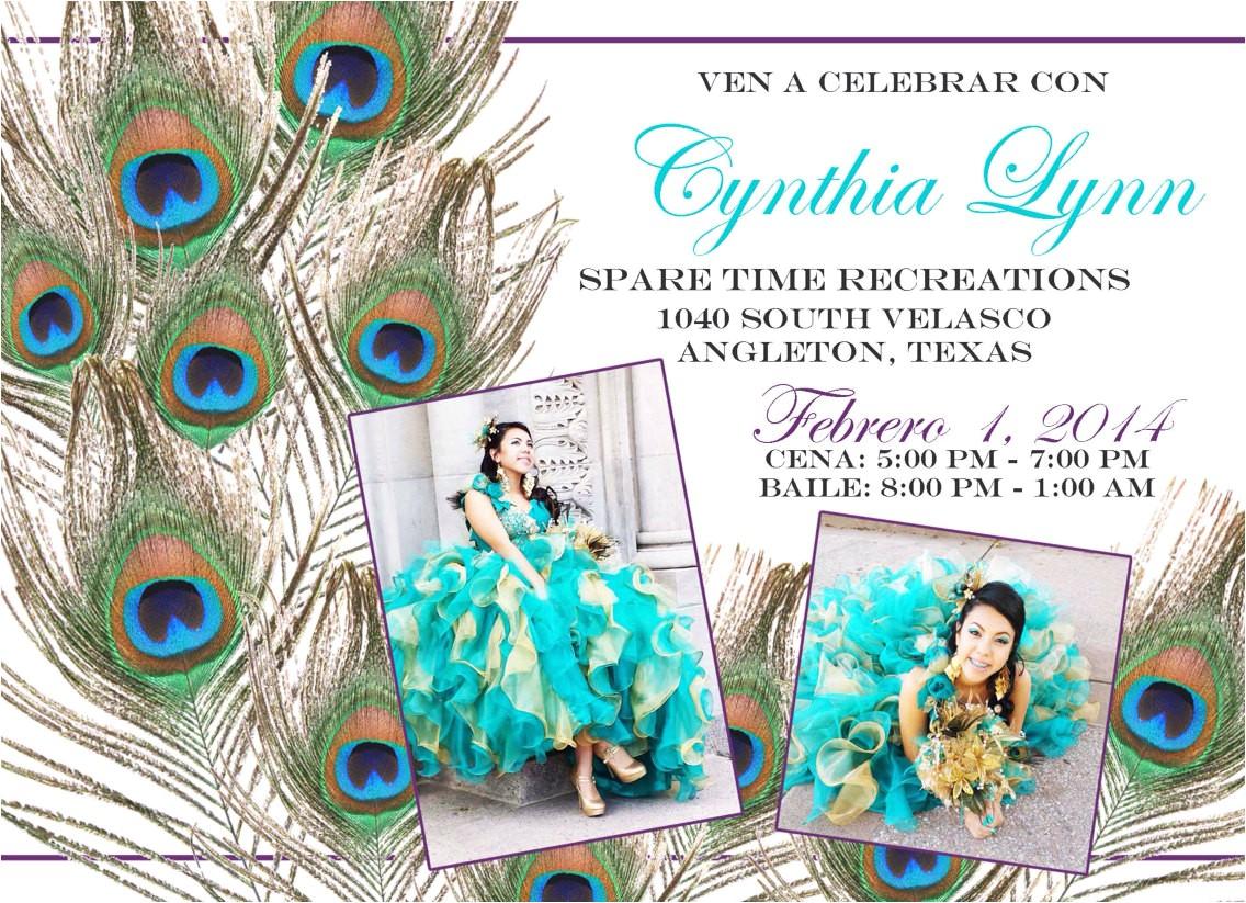 custom peacock xv anos quinceanera