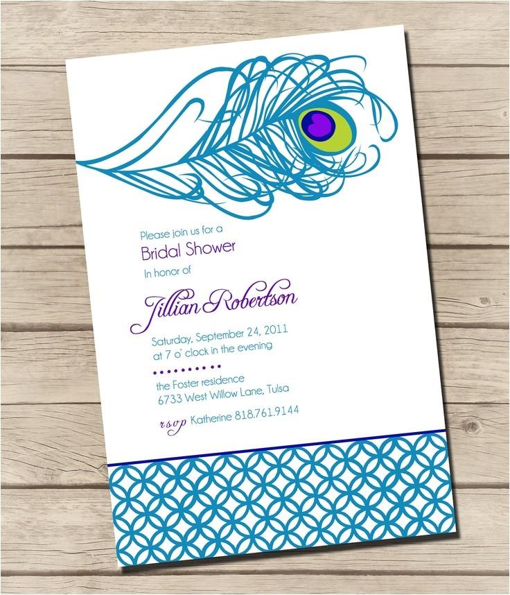 bridal shower invitations peacock