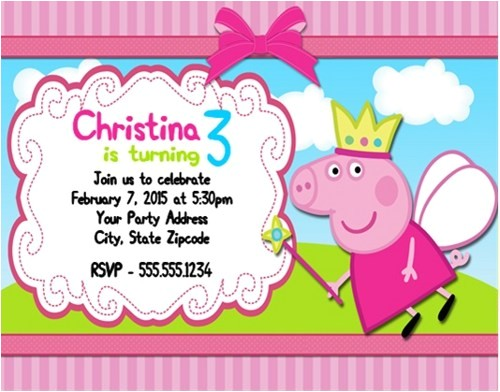 Peppa Pig Birthday Invitations Free Downloads Birthday Invitation Templates Peppa Pig Birthday
