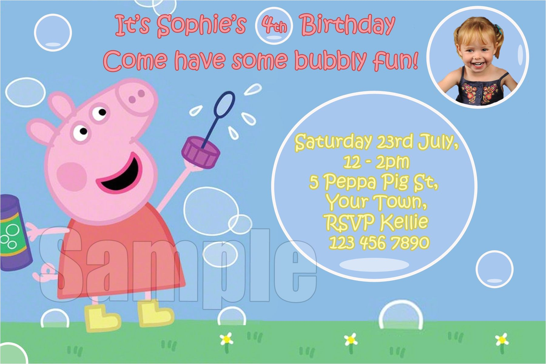 peppa pig birthday invitations free s