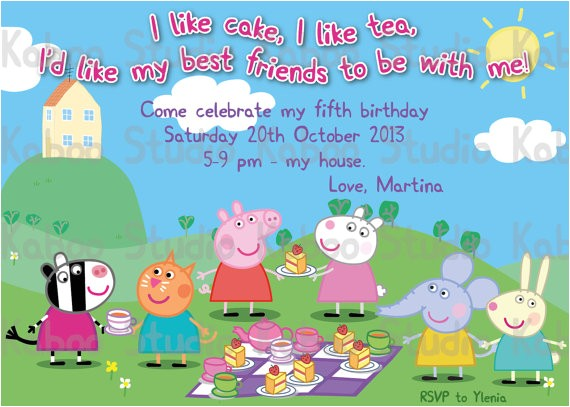peppa pig birthday invitations templates ideas