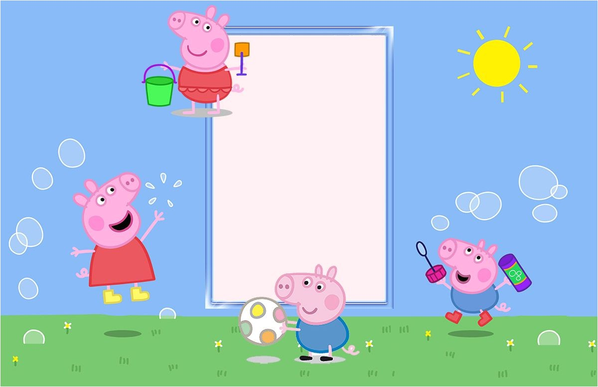 peppa pig birthday party invitation template