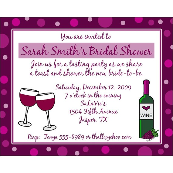 20 personalized bridal shower