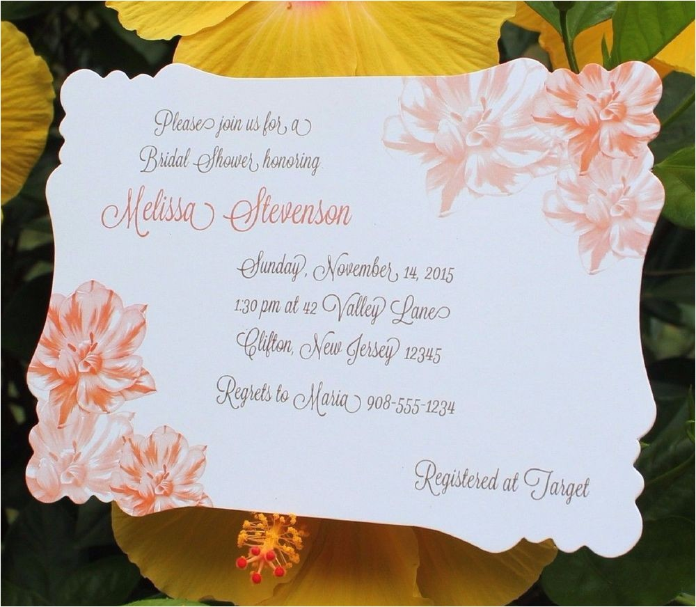 invitation wording for personal bridal shower