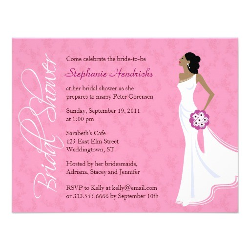 free personalized bridal shower