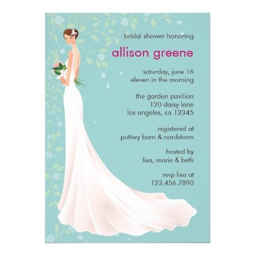 elegant bridal shower card personalized invites 161894847119402995