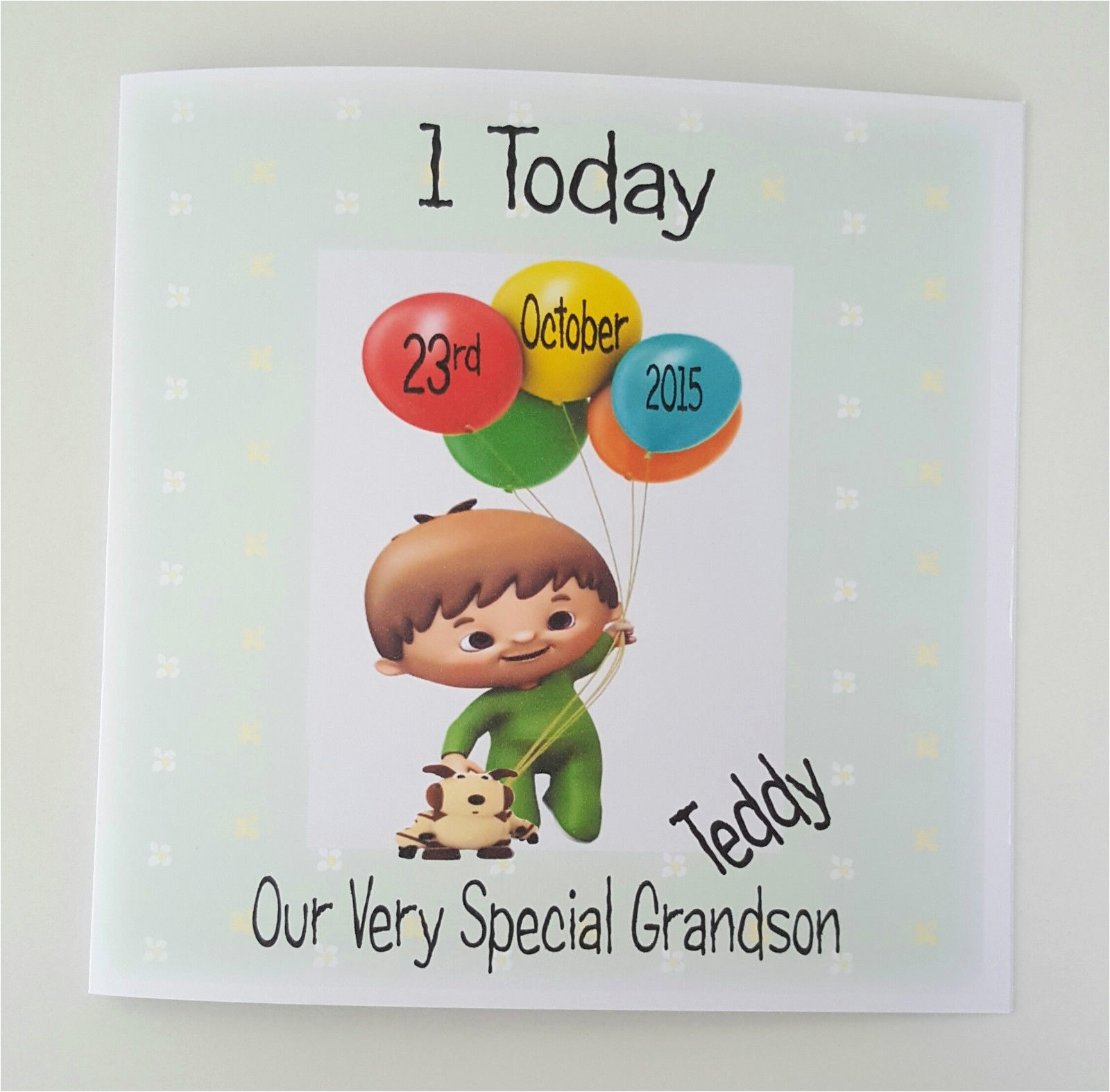grandson birthday wishes greeting cards unique personalised cuddlies baby tv 1st birthday card grandson son